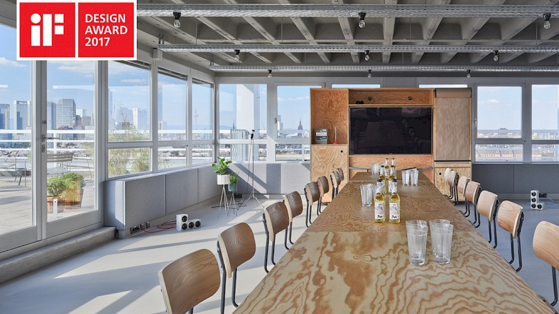 Large meeting room with TV wall unit - OutOfOffice Frankfurt Sachsenhausen