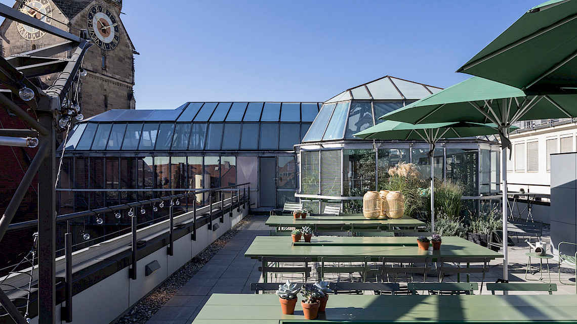 Our summerly roof top terrace - OutOfOffice Stuttgart