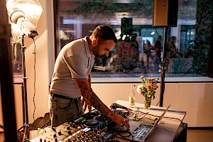 DJ at the opening party